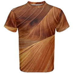 Sandstone The Wave Rock Nature Red Sand Men s Cotton Tee
