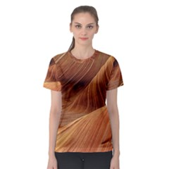 Sandstone The Wave Rock Nature Red Sand Women s Sport Mesh Tee