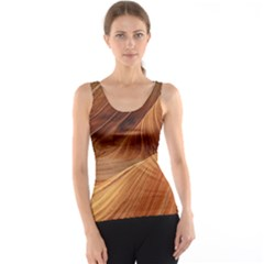 Sandstone The Wave Rock Nature Red Sand Tank Top