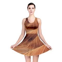 Sandstone The Wave Rock Nature Red Sand Reversible Skater Dress