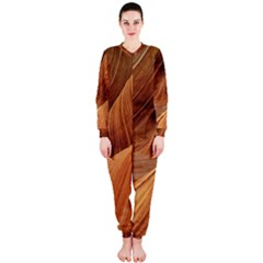 Sandstone The Wave Rock Nature Red Sand Onepiece Jumpsuit (ladies)