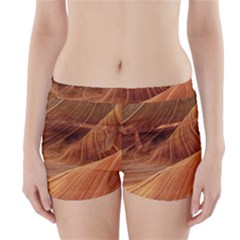 Sandstone The Wave Rock Nature Red Sand Boyleg Bikini Wrap Bottoms