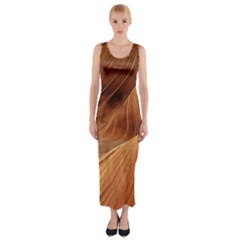Sandstone The Wave Rock Nature Red Sand Fitted Maxi Dress