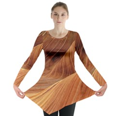 Sandstone The Wave Rock Nature Red Sand Long Sleeve Tunic