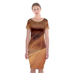 Sandstone The Wave Rock Nature Red Sand Classic Short Sleeve Midi Dress