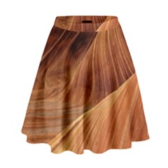 Sandstone The Wave Rock Nature Red Sand High Waist Skirt