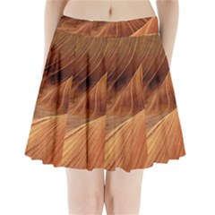 Sandstone The Wave Rock Nature Red Sand Pleated Mini Skirt