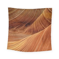 Sandstone The Wave Rock Nature Red Sand Square Tapestry (small)