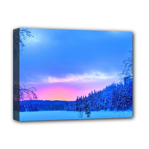 Winter Landscape Snow Forest Trees Deluxe Canvas 16  X 12