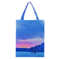 Winter Landscape Snow Forest Trees Classic Tote Bag
