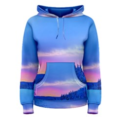 Winter Landscape Snow Forest Trees Women s Pullover Hoodie