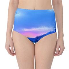 Winter Landscape Snow Forest Trees High Waist Bikini Bottoms