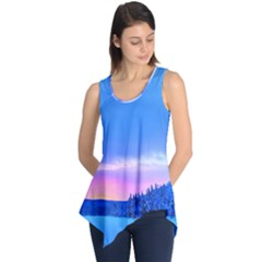 Winter Landscape Snow Forest Trees Sleeveless Tunic