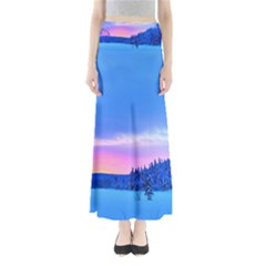 Winter Landscape Snow Forest Trees Maxi Skirts