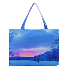 Winter Landscape Snow Forest Trees Medium Tote Bag