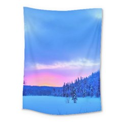 Winter Landscape Snow Forest Trees Medium Tapestry