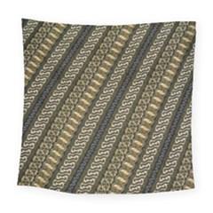 Batik Cap Parang Gendreh Kombinas Square Tapestry (large)