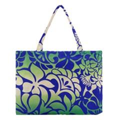 Batik Fabric Flower Medium Tote Bag