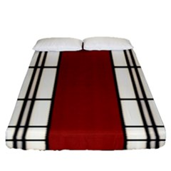 Shoji   Red Fitted Sheet (queen Size)