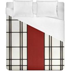 Shoji   Red Duvet Cover (california King Size)