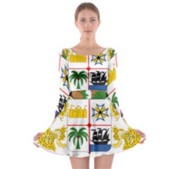Coat Of Arms Of Benin Long Sleeve Skater Dress