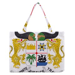 Coat Of Arms Of Benin Medium Zipper Tote Bag