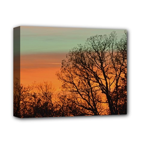 Twilight Sunset Sky Evening Clouds Deluxe Canvas 14  X 11