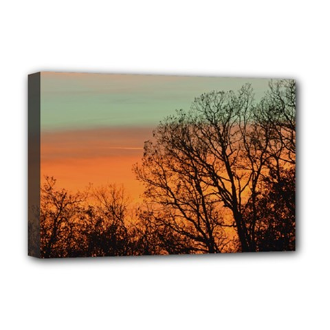 Twilight Sunset Sky Evening Clouds Deluxe Canvas 18  X 12
