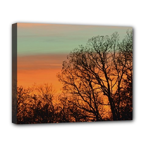 Twilight Sunset Sky Evening Clouds Deluxe Canvas 20  X 16
