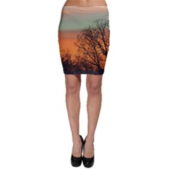 Twilight Sunset Sky Evening Clouds Bodycon Skirt