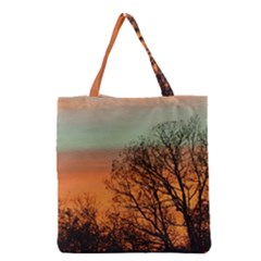 Twilight Sunset Sky Evening Clouds Grocery Tote Bag