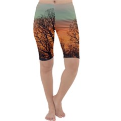 Twilight Sunset Sky Evening Clouds Cropped Leggings