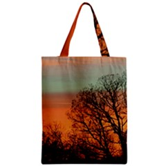 Twilight Sunset Sky Evening Clouds Zipper Classic Tote Bag