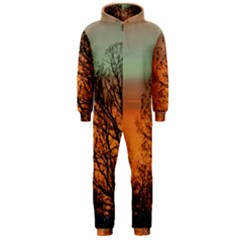 Twilight Sunset Sky Evening Clouds Hooded Jumpsuit (men)