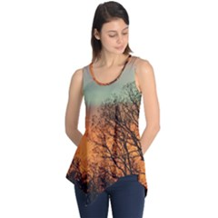 Twilight Sunset Sky Evening Clouds Sleeveless Tunic