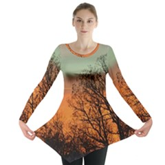 Twilight Sunset Sky Evening Clouds Long Sleeve Tunic