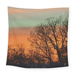 Twilight Sunset Sky Evening Clouds Square Tapestry (large)