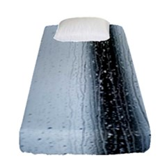 Rain Raindrop Drop Of Water Drip Fitted Sheet (single Size)