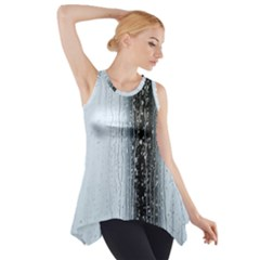 Rain Raindrop Drop Of Water Drip Side Drop Tank Tunic