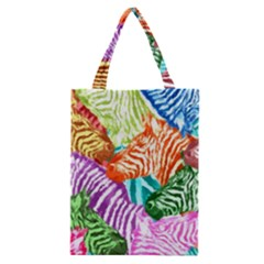 Zebra Colorful Abstract Collage Classic Tote Bag
