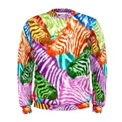 Zebra Colorful Abstract Collage Men s Sweatshirt