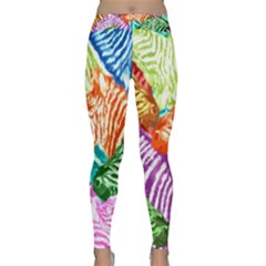 Zebra Colorful Abstract Collage Classic Yoga Leggings