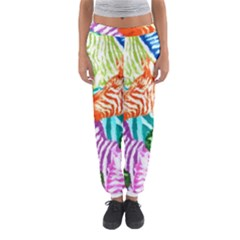 Zebra Colorful Abstract Collage Women s Jogger Sweatpants