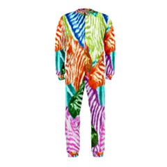 Zebra Colorful Abstract Collage Onepiece Jumpsuit (kids)