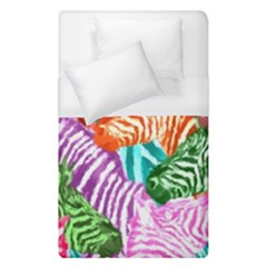Zebra Colorful Abstract Collage Duvet Cover (single Size)