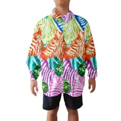 Zebra Colorful Abstract Collage Wind Breaker (kids)