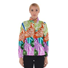 Zebra Colorful Abstract Collage Winterwear
