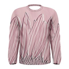 Shabby Chic Vintage Background Men s Long Sleeve Tee