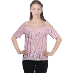 Shabby Chic Vintage Background Women s Cutout Shoulder Tee