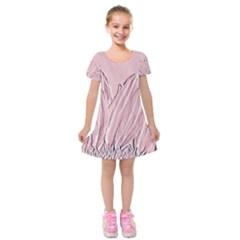 Shabby Chic Vintage Background Kids  Short Sleeve Velvet Dress